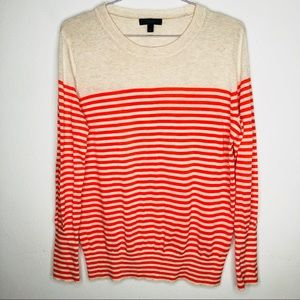 J Crew stripped cotton sweater